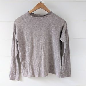 Madewell Taupe Long Sleeve Shirt